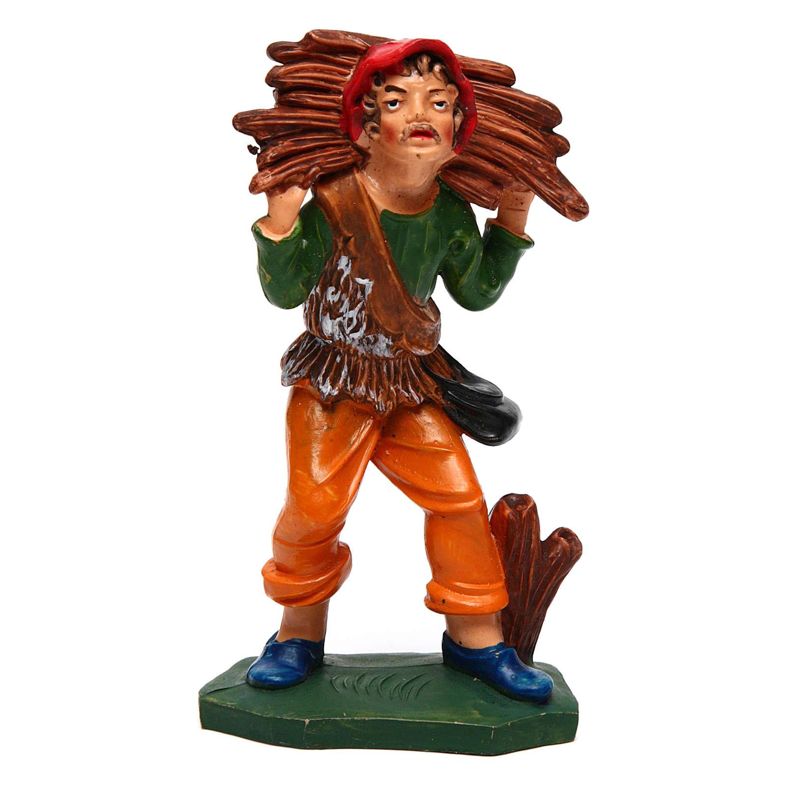 Homme avec bois 12 cm crèche 3