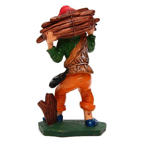 Homme avec bois 12 cm crèche 2