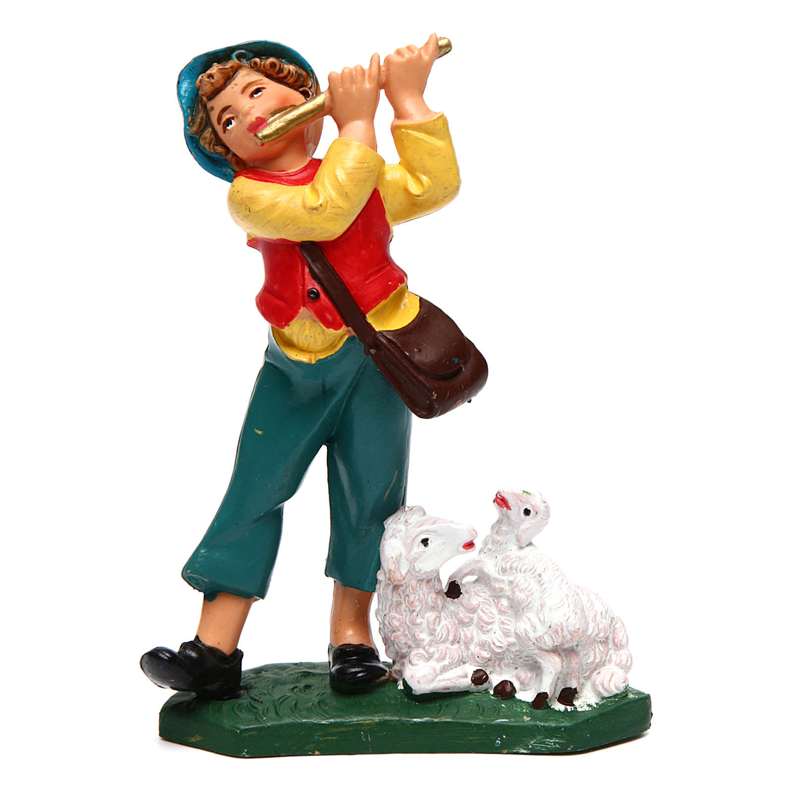 Young musician for Nativity Scene 10 cm 3