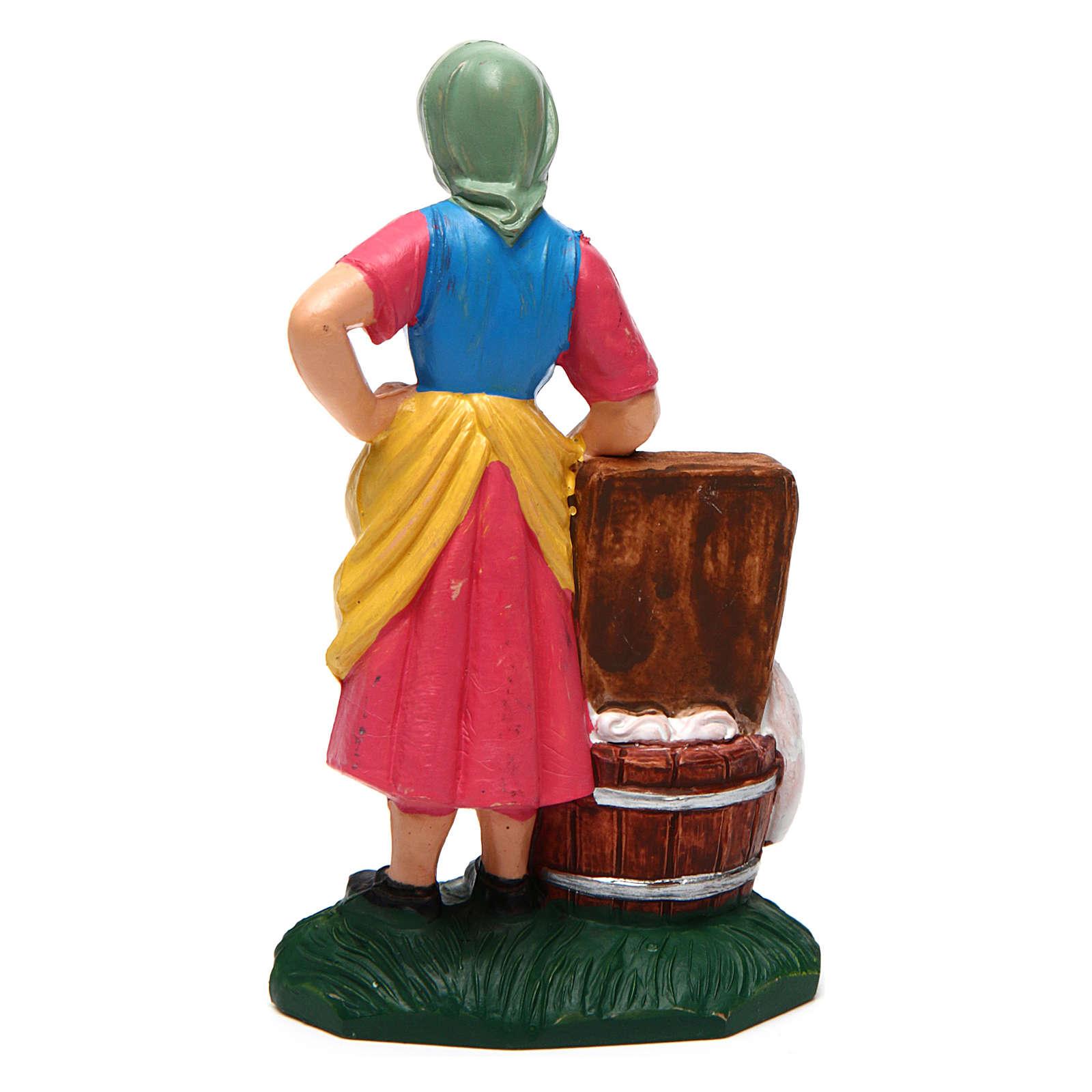 Mujer que lava ropa 10 cm de altura media belén 3