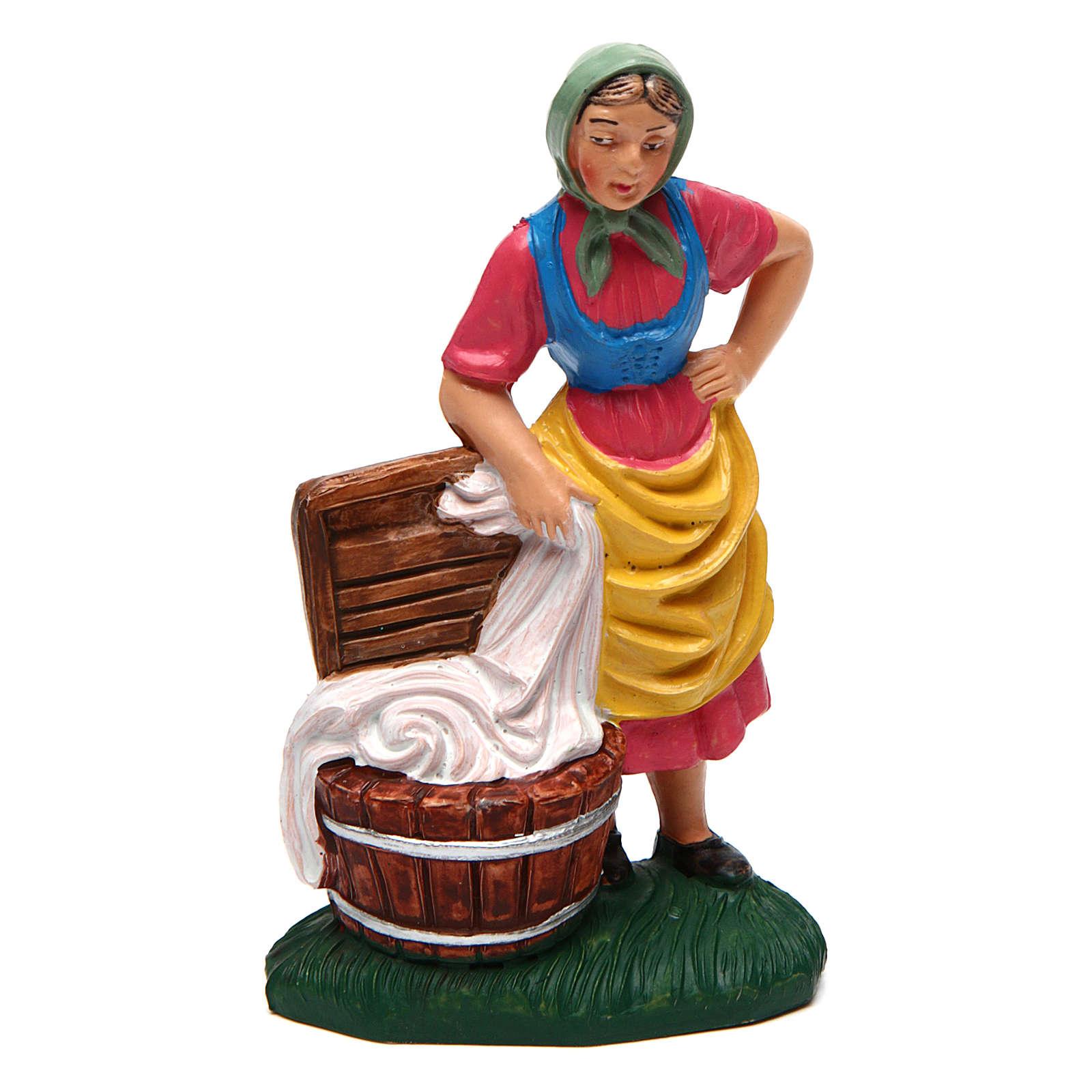 Donna lavapanni 10 cm presepe 3