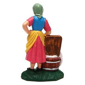 Mulher lavandeira 10 cm presépio s2