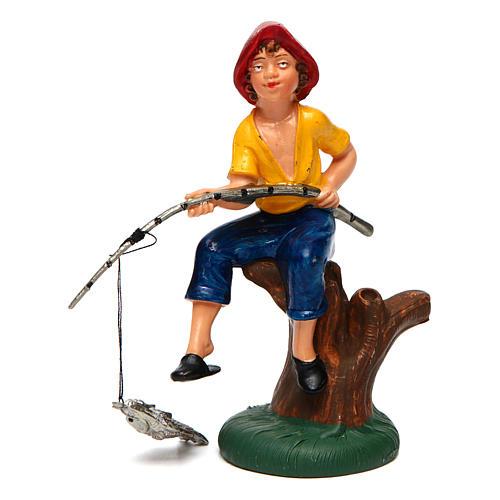 Pescador sentado para belén de 10 cm de altura media 1
