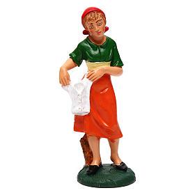 Frau Wäsche aufhängend für 12 cm Krippe s1