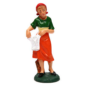 Woman with laundry for 12 cm Nativity Scene s1