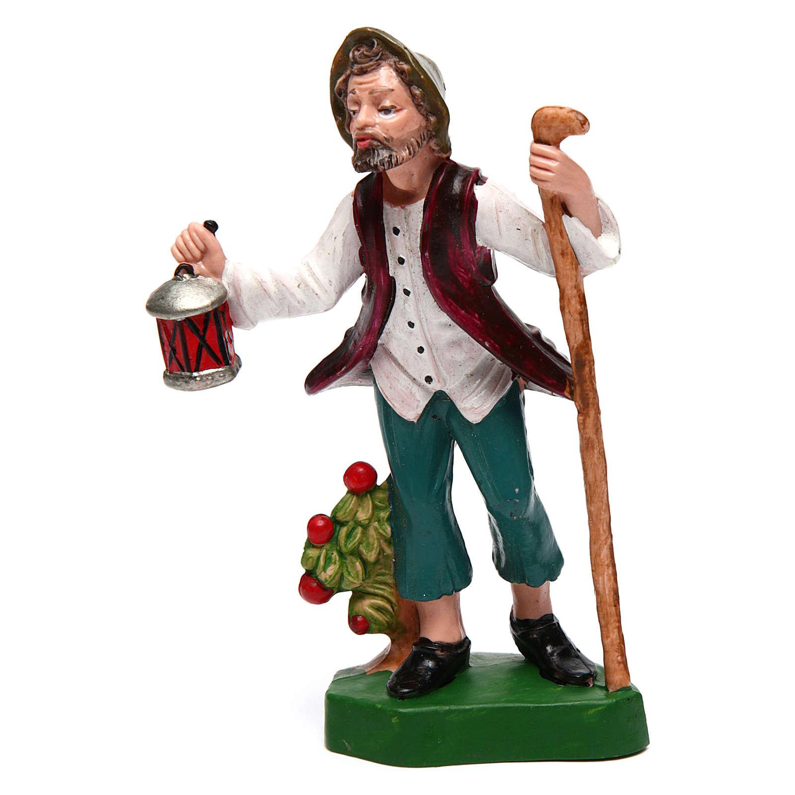 Hombre con linterna para belén de 12 cm de altura media 3