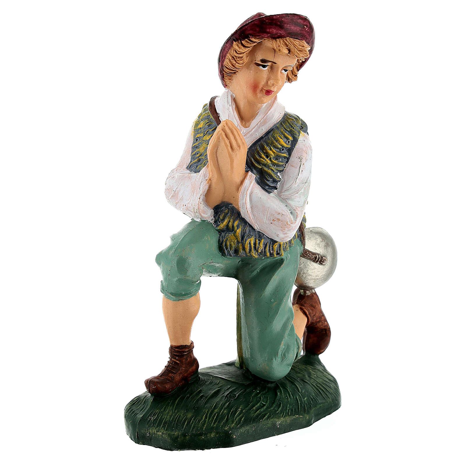 Praying man for Nativity Scene 12 cm 3