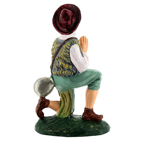 Uomo che prega per presepe di 12 cm  3