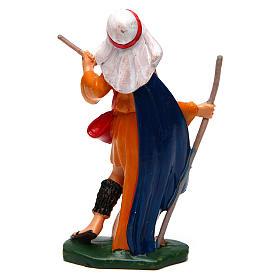 Homem com bastão 12 cm presépio pvc s2