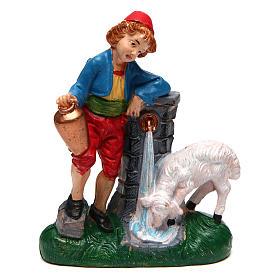 Figuras del Belén: Hombre cerca de la fuente 10 cm de altura media belén