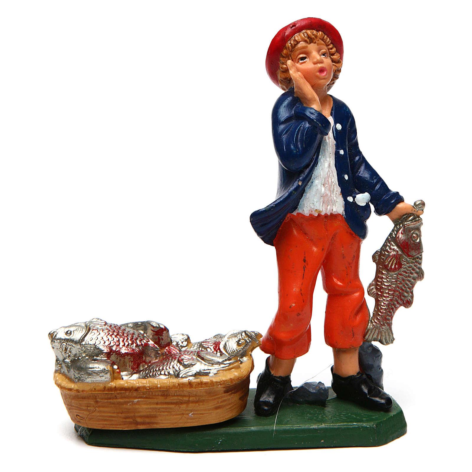Homme poissonnier 10 cm crèche 3