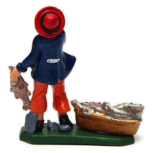 Homme poissonnier 10 cm crèche 2