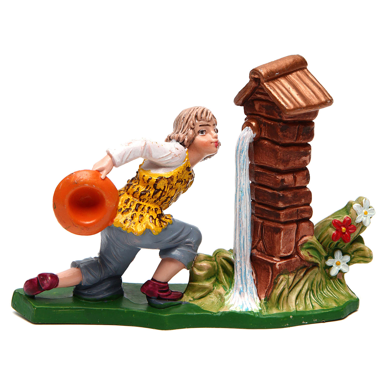 Man at a fountain for Nativity Scene 12 cm 3