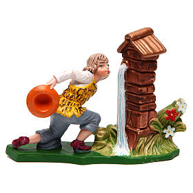 Nativity Scene figurines: Man at a fountain for Nativity Scene 12 cm