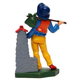 Uomo alla fontana 12 cm presepe s2