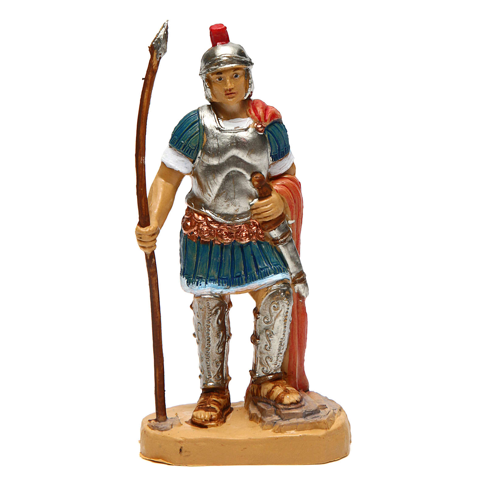 Soldato con lancia di 10 cm presepe 3