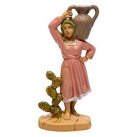 Santon de femme avec vase 10 cm crèche s1