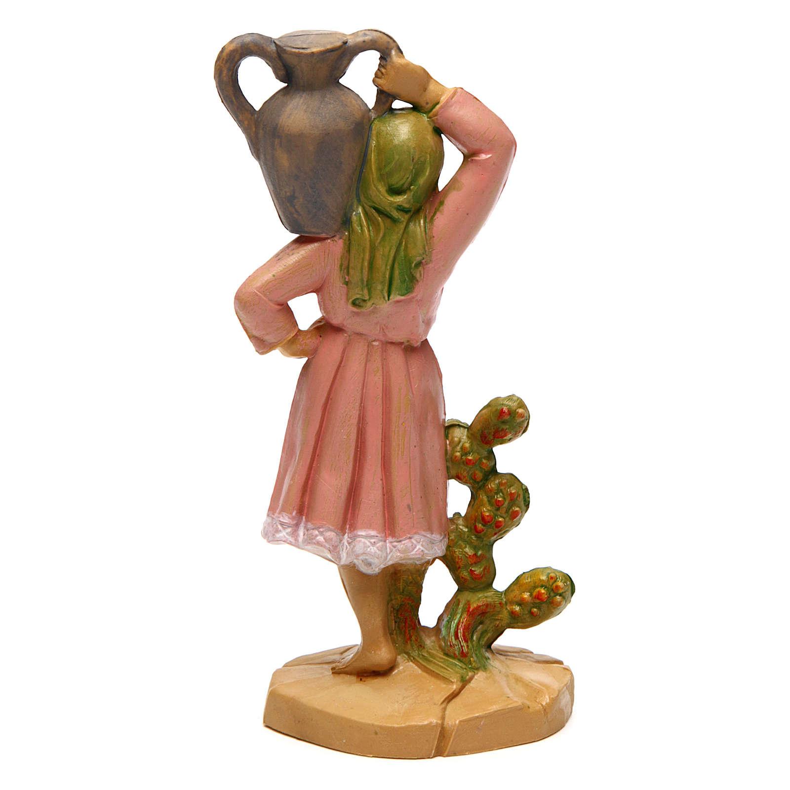 Statua di donna con vaso di 10 cm presepe 3