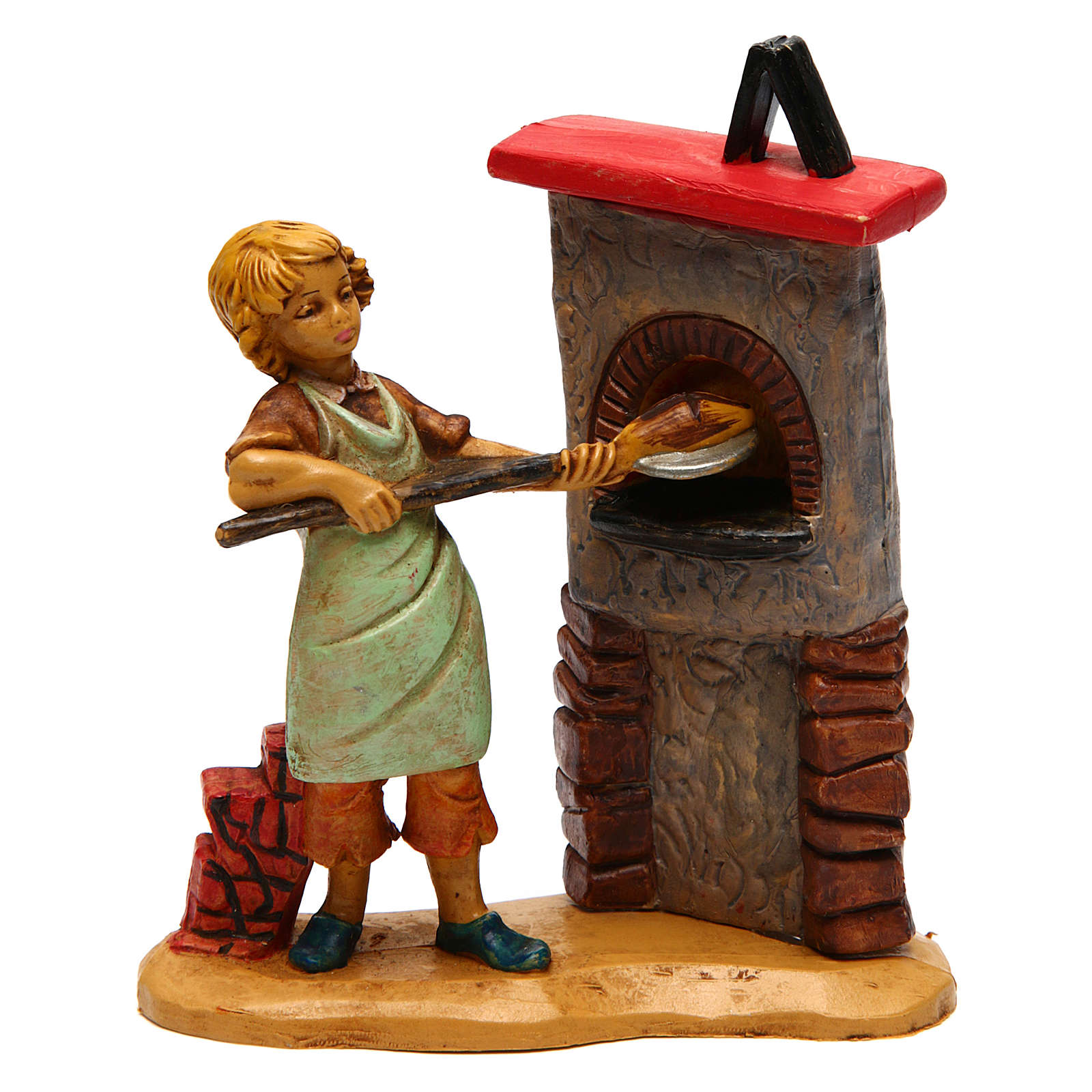 Man at the oven for Nativity Scene 12 cm 3