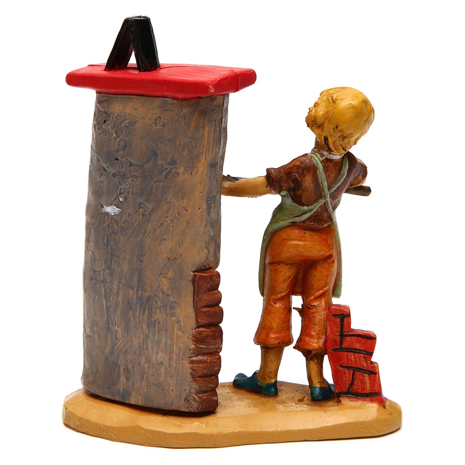 Hombre con horno de 12 cm de altura media belén 3