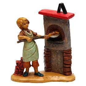 Statue per presepi: Uomo al forno di 12 cm presepe