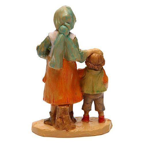 Mujer con niño 10 cm de altura media belén 2