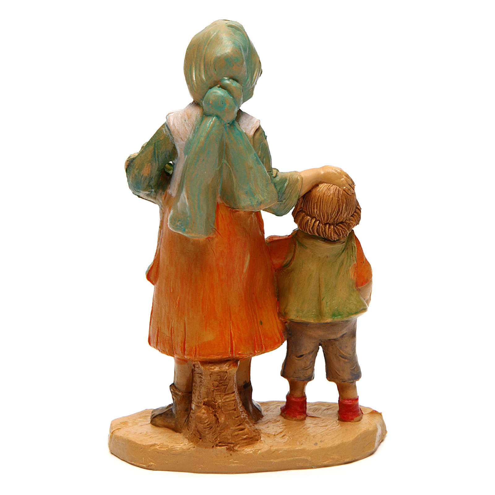 Woman with Boy 10 cm nativity 3