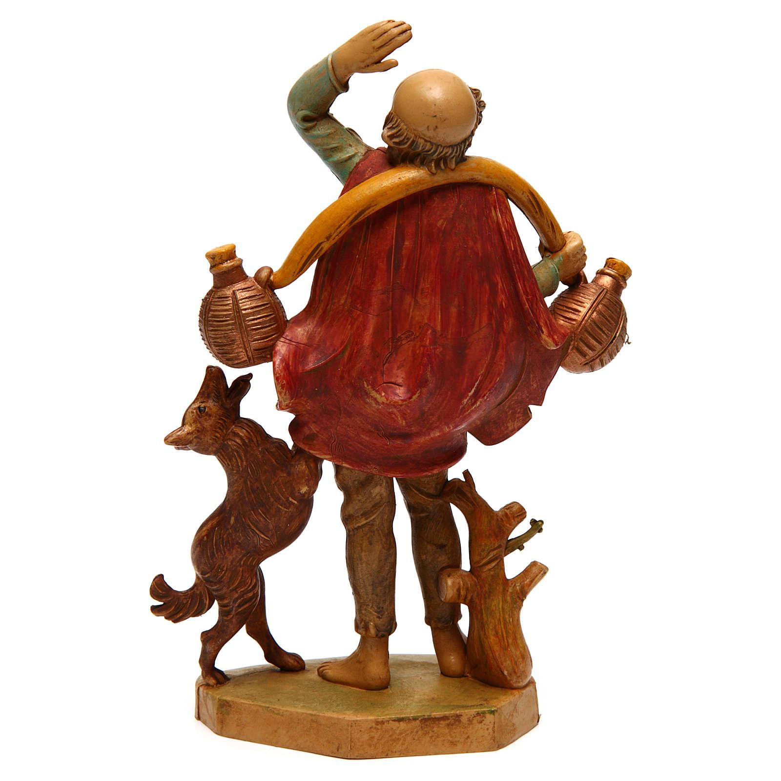 Mann mit Hund für 16 cm Krippe 3