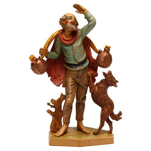 Mann mit Hund für 16 cm Krippe 1