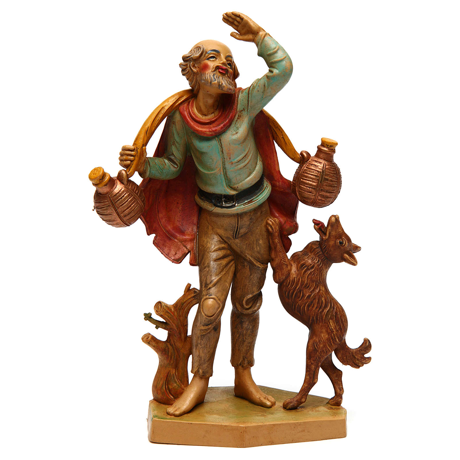 Uomo con cane 16 cm presepe 3