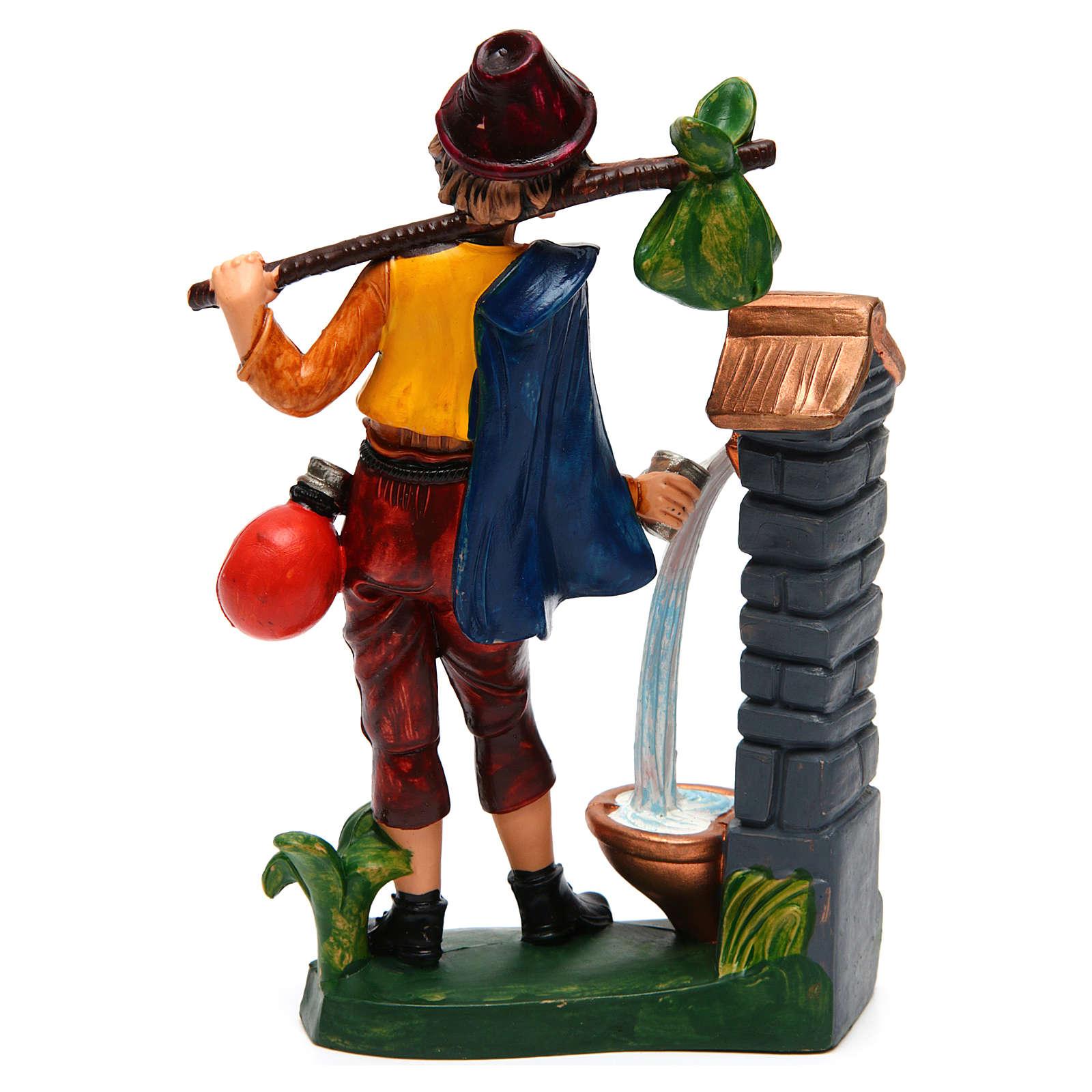 Homme à la fontaine 16 cm crèche 3