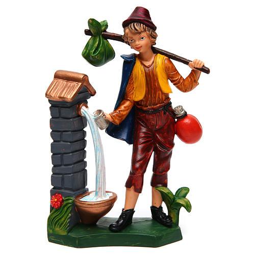 Homme à la fontaine 16 cm crèche 1