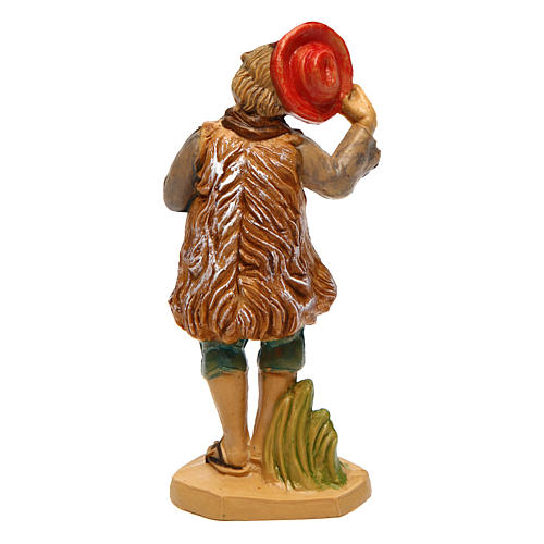 Hombre con sombrero para belén de 10 cm de altura media 2