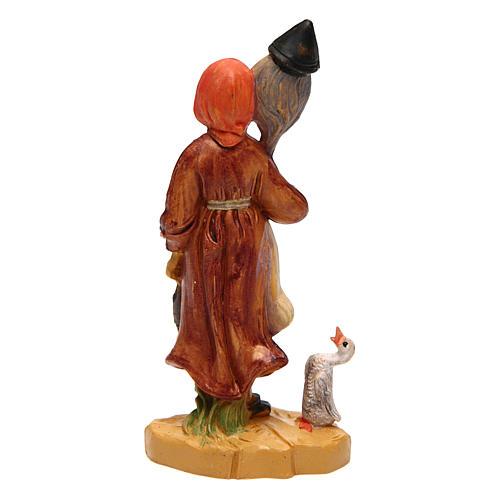 Mujer con lana 10 cm de altura media belén 2