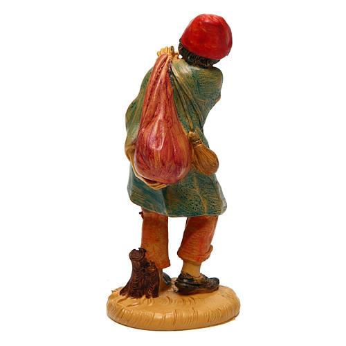 Uomo con sacco 10 cm presepe 2