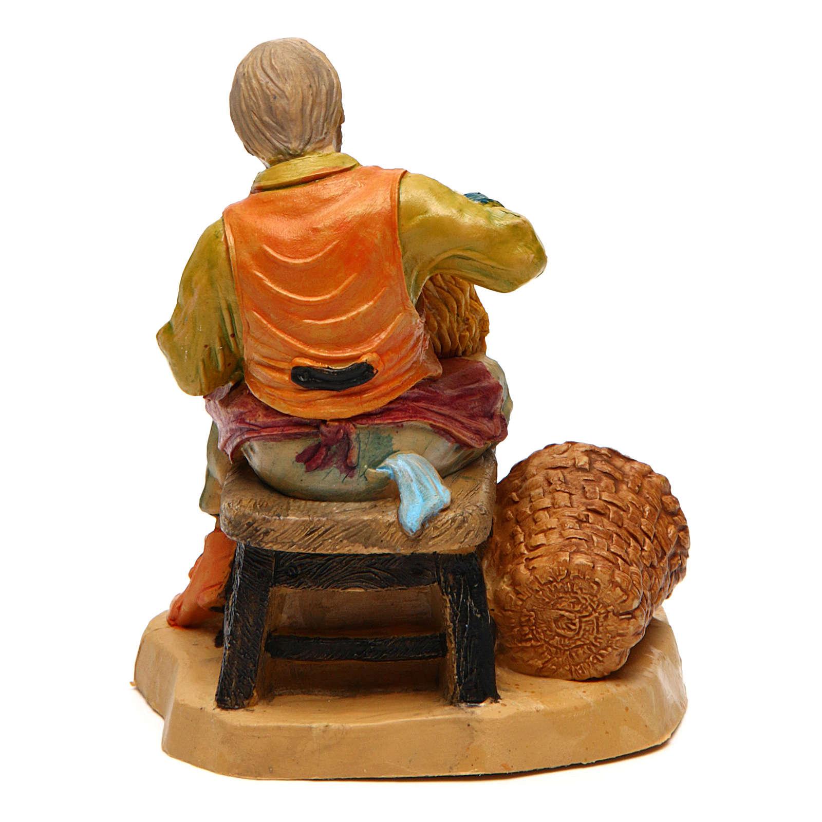 Man with Basket 10 cm nativity 3