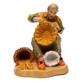 Man with Basket 10 cm nativity s1