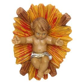 Niño Jesús con cuna de 10 cm de altura media belén s1