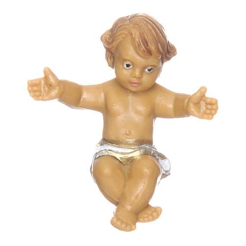 Niño Jesús con cuna de 10 cm de altura media belén 2