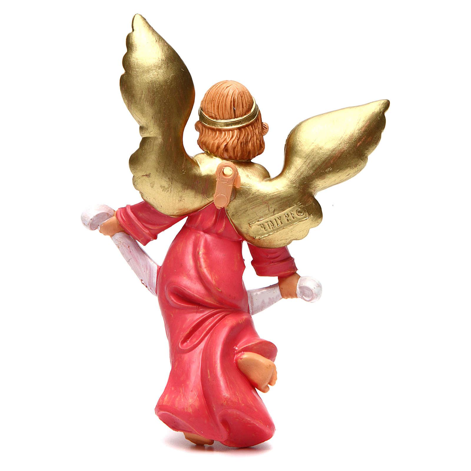 Ángel Gloria de 16 cm de altura media belén 3
