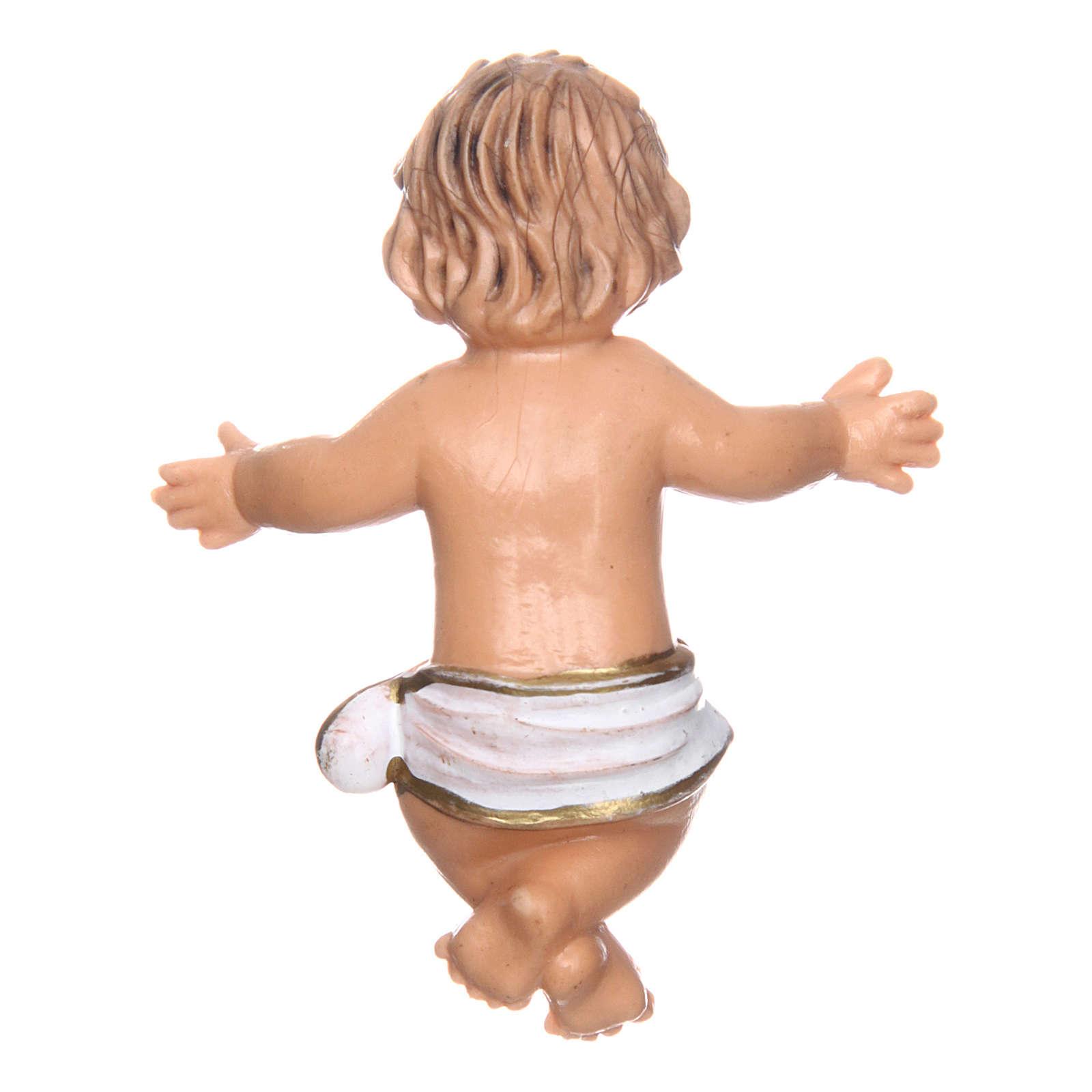 Bambino e culla per presepe di 16 cm 3
