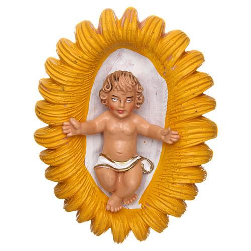 Bambino e culla per presepe di 16 cm 1
