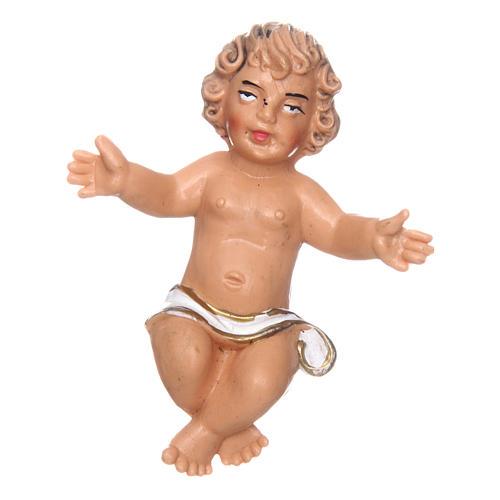 Bambino e culla per presepe di 16 cm 2
