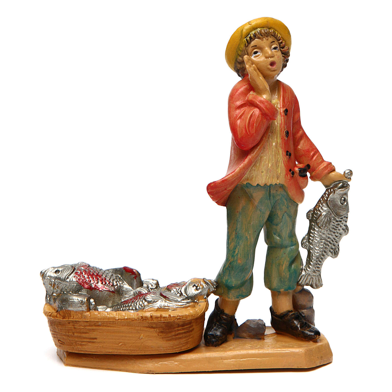Fishmonger for Nativity Scene 10 cm 3