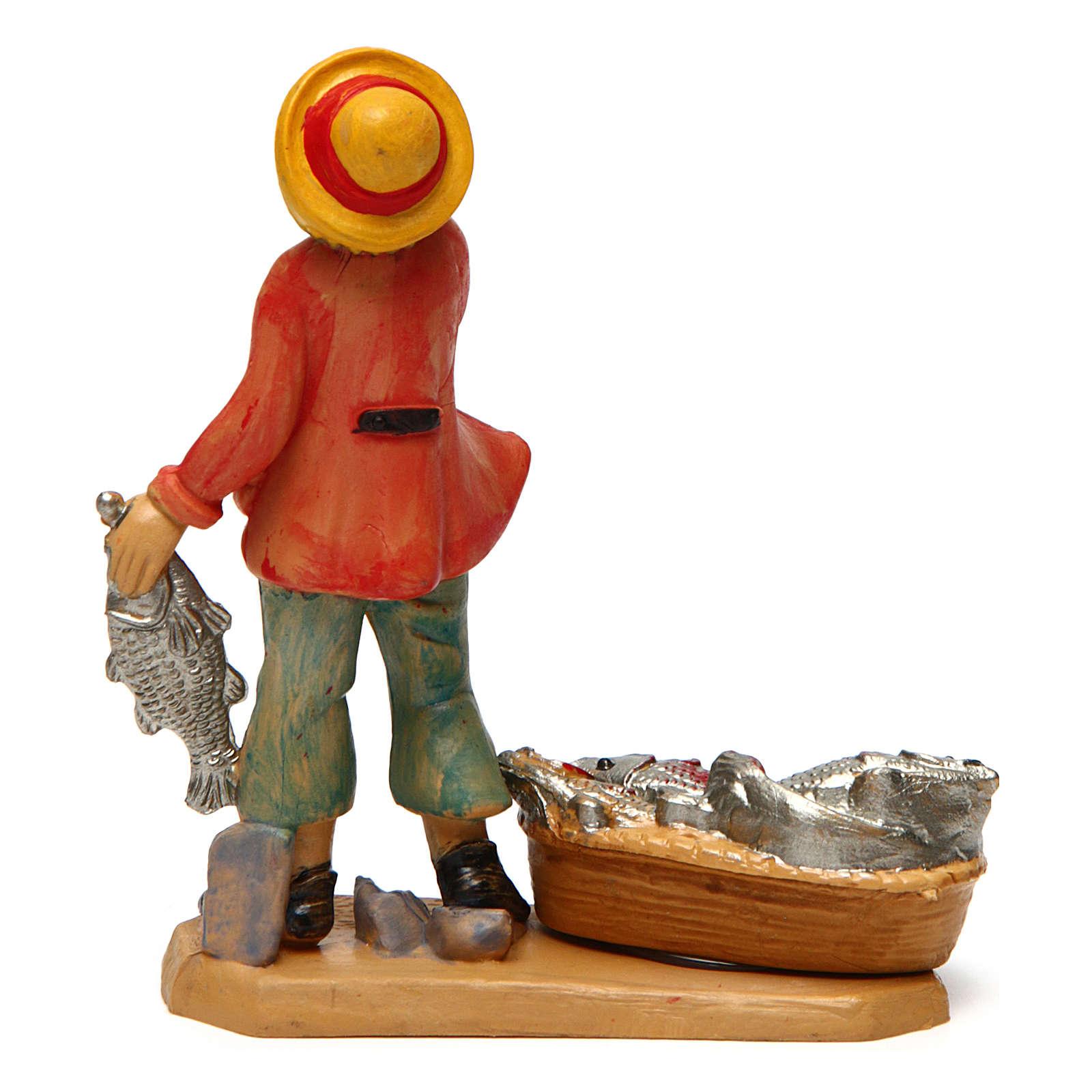 Hombre pescadero de 10 cm de altura media belén 3