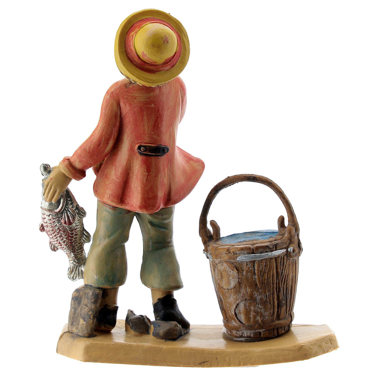 Homme poissonnier de 10 cm crèche 3