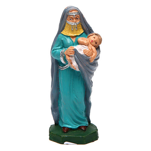 Femme avec enfant pour crèche de 10 cm 1