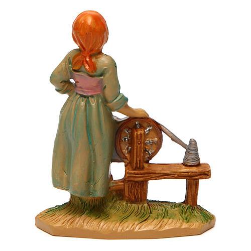 Woman Fabric Spinner of 10 cm Nativity 2