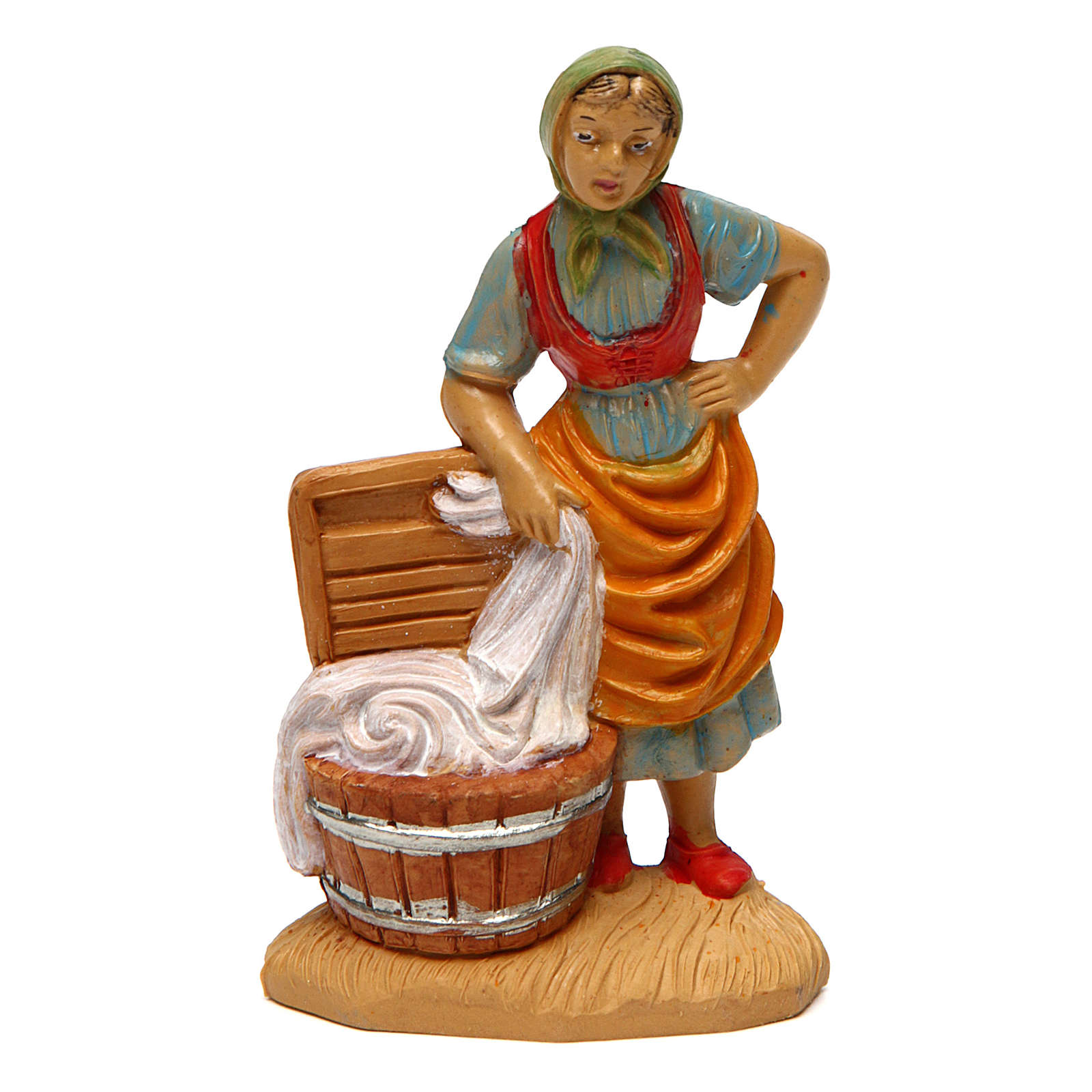 Laundress for Nativity Scene 10 cm 3