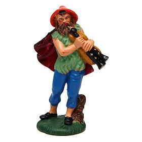 Figuras del Belén: Hombre que toca la gaita de 10 cm de altura media belén